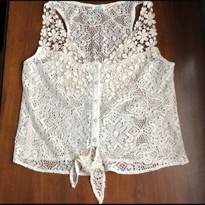 Kimchi Blue Lace Top Urban Outfitters size Small